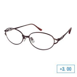 パーフェクトシニアグラス 老眼鏡 RL-200 レディース +3.00 ブラウン 落ち着いた色合いがおしゃれな老眼鏡。|profit