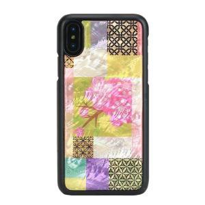 ikins iPhoneX 天然貝ケース Cherry Blossom|profit