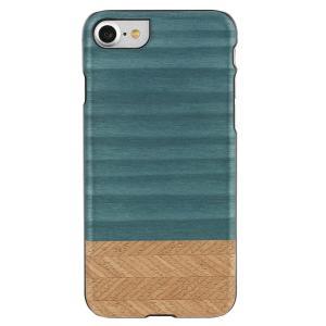 Man&Wood iPhone8/7 天然木ケース Denim ブラックフレーム|profit
