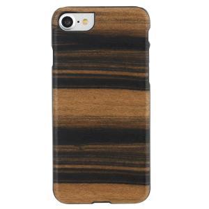 Man&Wood iPhone8/7 天然木ケース Ebony ブラックフレーム|profit