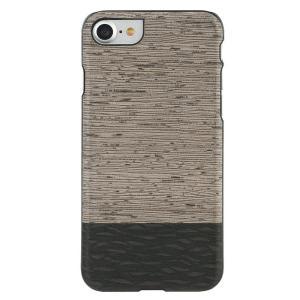 Man&Wood iPhone8/7 天然木ケース Lattis ブラックフレーム|profit