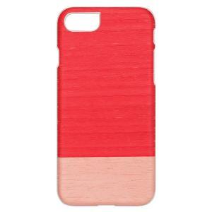 Man&Wood iPhone8/7 天然木ケース Little peach ホワイトフレーム|profit