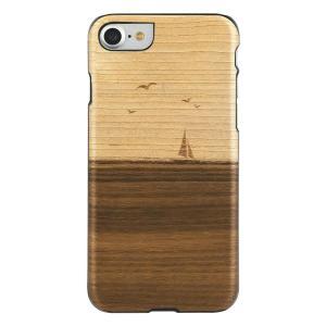 Man&Wood iPhone8/7 天然木ケース Mare ブラックフレーム|profit