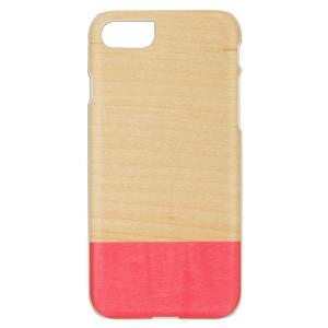Man&Wood iPhone8/7 天然木ケース Miss match ホワイトフレーム|profit