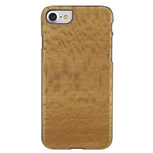 Man&Wood iPhone8/7 天然木ケース Platano ブラックフレーム|profit