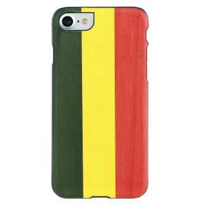 Man&Wood iPhone8/7 天然木ケース Reggae ブラックフレーム|profit
