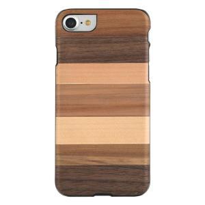 Man&Wood iPhone8/7 天然木ケース Sabbia ブラックフレーム|profit