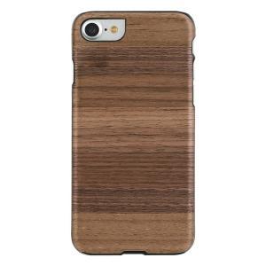 Man&Wood iPhone8/7 天然木ケース Strato ブラックフレーム|profit