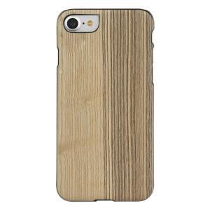 Man&Wood iPhone8/7 天然木ケース Vintage Olive ブラックフレーム|profit