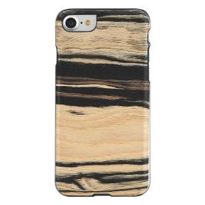 Man&Wood iPhone8/7 天然木ケース White Ebony ブラックフレーム|profit