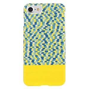 Man&Wood iPhone8/7 天然木ケース Yellow Submarine ホワイトフレーム|profit