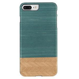 Man&Wood iPhone8Plus/7Plus 天然木ケース Denim ブラックフレーム|profit
