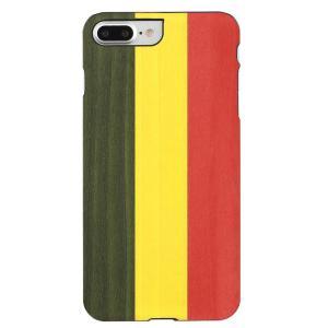 Man&Wood iPhone8Plus/7Plus 天然木ケース Reggae ブラックフレーム|profit