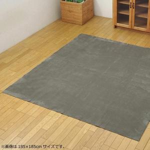 ラグ カーペット 『イーズ』 グレー 約220×220cm (ホットカーペット対応) 3963539 なめらかタッチのカーペット。|profit