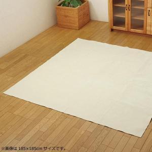 ラグ カーペット 『イーズ』 アイボリー 約220×220cm (ホットカーペット対応) 3963589 なめらかタッチのカーペット。|profit