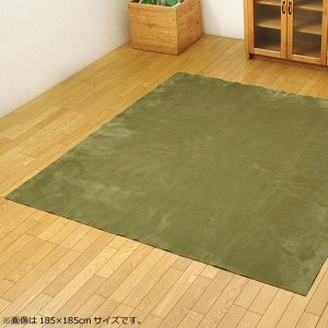 ラグ カーペット 『イーズ』 グリーン 約220×320cm (ホットカーペット対応) 3963499 なめらかタッチのカーペット。|profit