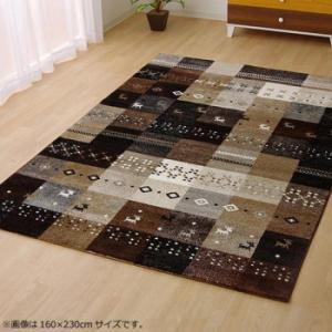 トルコ製 ウィルトン織カーペット 『フォリア』 ベージュ 約160×230cm 2340369 パッチワーク調のデザイン。|profit