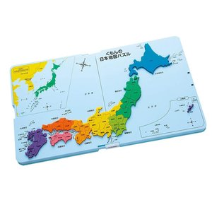 楽しく日本地図を覚えられる。47の都道府県を正確な形に再現。パズル遊びをしながら厚めのピースを枠には...