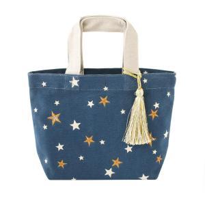バッグ 刺繍 スター ネイビー 14218650095|profit