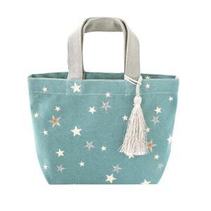 バッグ 刺繍 スター ライトブルー 14218650096|profit