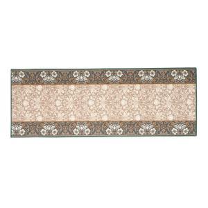 タフトプリント廊下敷き エレガンス グリーン 約67×240cm 240616716 落ち着きのある上品な色合いと、優雅なデザイン|profit