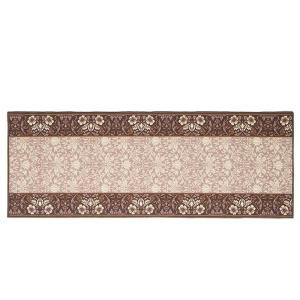 タフトプリント廊下敷き エレガンス ブラウン 約67×240cm 240616714 落ち着きのある上品な色合いと、優雅なデザイン|profit