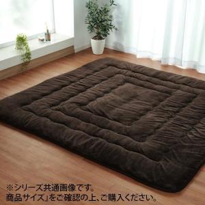 6層ふっくら敷きカーペット 『6層フラン』 ブラウン 約190×190cm 6021319|profit