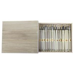 三木章刃物 木彫用彫刻刀 木箱入 15本組 140470 彫刻刀のセットです。|profit