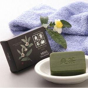 洗顔石鹸 MEN'S 爽茶石鹸 Face and body|profit