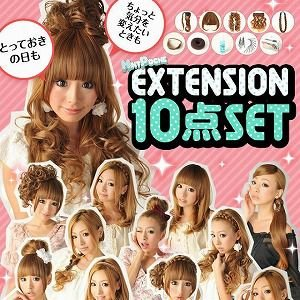 【アウトレット特価】MINTPOSHE EXTENSION(エクステ)ウィッグスターター10点セット profit