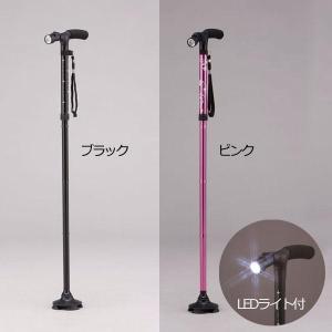 ステッキ LEDライト付き4点自立お洒落ステッキ 杖 WALK SUPORT|profit