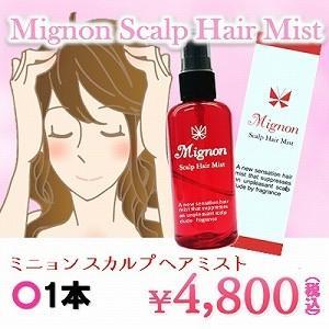 頭皮 体臭 デオドラント Mignon Scalp Hair Mist(ミニョン スカルプ ヘア ミスト)1本|profit