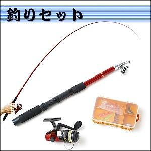 釣り竿 リール 仕掛け付き 釣りセット 釣り具...