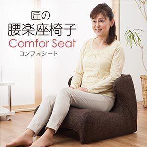 座椅子 究極 匠の腰楽座椅子 コンフォシート 椅子 ソファー ソファ|profit