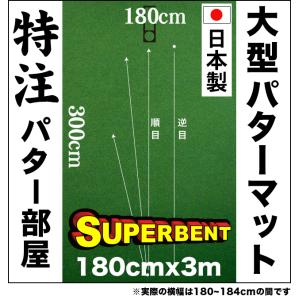 パターマット工房 184cm×300cm SUPER-BENT (個人宅宛配送可) 高速 高グレード 日本製 パット 練習|progolf