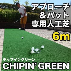 屋外可・ アプローチ&パット専用人工芝 チップイングリーン[CHIPIN'GREEN]90cm×6m ゴルフ 練習|progolf
