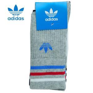 adidas アディダス オリジナルス 靴下 ライン クルー ソックス SOCKS 3P 3足組 キッズ ジュニア ベビー DH2958 progres