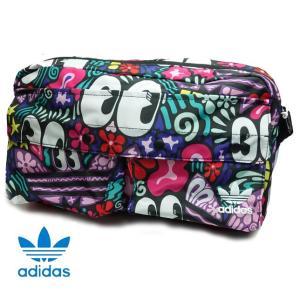 アディダス オリジナルス レディース ウエストバッグ 総柄 WAIST BAG TREFOIL adidas Originals DW6720|progres