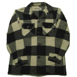 BEMIDJI WOOLEN MILLS ベミジ ウールシャツジャケット バッファローチェック ホワイト|progres