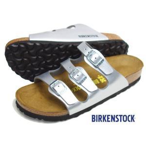BIRKENSTOCK ビルケンシュトック フロリダ シルバー 3ストラップ ベルト サンダル レディース progres