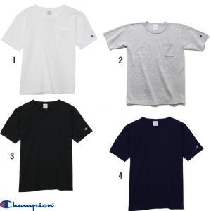 Champion チャンピオン MADE IN USA T1011 ポケット付き US Tシャツ 無地 Tシャツ C5-B303|progres