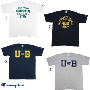 Champion チャンピオン T1011 MADE IN USA プリント カレッジ Tシャツ C5-H301|progres