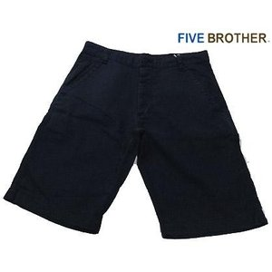 FIVE BROTHER ファイブブラザー   リネンショーツ ネイビー|progres