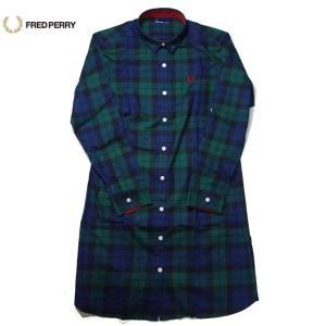 FRED PERRY チェック ワンピース ブラックウォッチ Check Shirt Dress F8253|progres