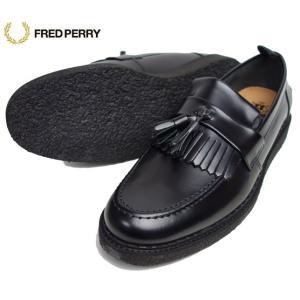 FRED PERRY フレッドペリー×GEORGE COX メンズ タッセルローファー レザーシューズ B8278|progres