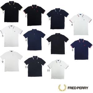 フレッドペリー シャツ M12N 2本 ライン ポロシャツ メンズ FRED PERRY|progres