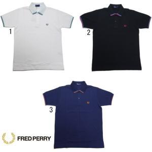 フレッドペリー ポロシャツ F1580 ラインポロ FRED PERRY Tipped Pique Shirt メンズ ポロシャツ|progres