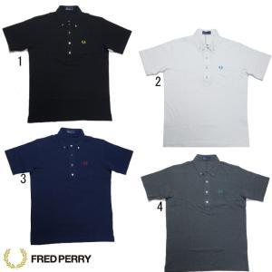 フレッドペリー メンズ ボタンダウン ポロシャツ F1542 ボタン糸 配色 FRED PERRY|progres
