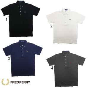 フレッドペリー メンズ ボタンダウン ポロシャツ F1542 ボタン糸 配色 FRED PERRY 2019|progres