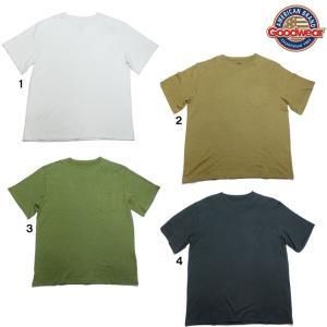 Goodwear グッドウェア クルーネック ポケットTシャツ レギュラーフィット 無地 ポケT ヘンプコットン 綿麻|progres